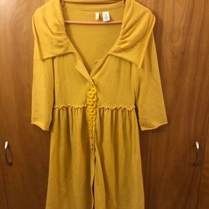 Moth by Anthropologie Knit yellow dress